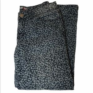 Style & Co. Blue and White Animal Print Jeans
